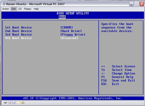 VPC Window 04 (Bios 02)